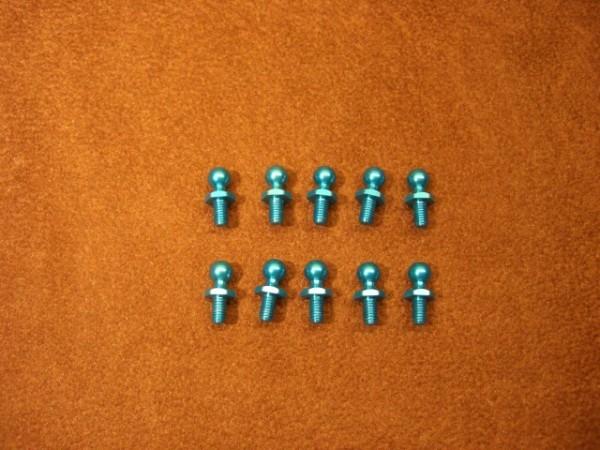Tamiya 300053642 Kugelköpfe 5mm Alu blau