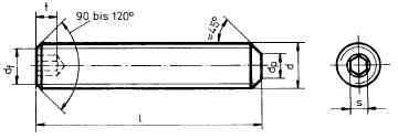 Gewindestift nach DIN913 M3x6 mit Kegelkuppe (10)
