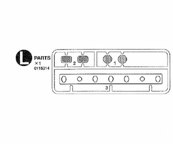 Tamiya 300115314 Knight Hauler Rücklicht-Gläser (L-Parts)