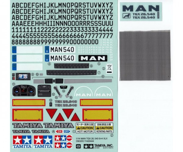 Tamiya 319495629 MAN TGX Stickers