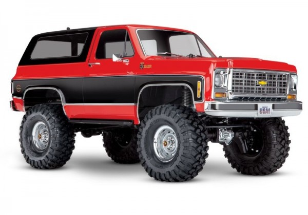 Traxxas 82076-4RED TRX-4 Chevy Blazer 4x4 red RTR ex battery/charger 1/10 4WD Scale-Crawler Brushed