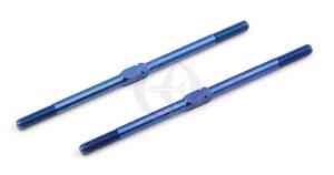 """Asso 1408 R/L Spurstange, Titan, M3x67mm (2.65""""), Blau (2)"""