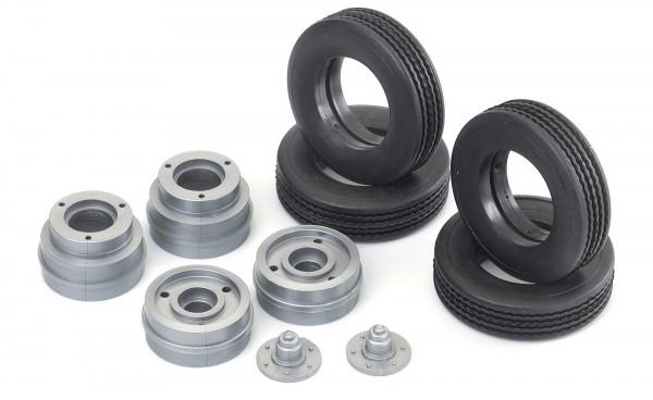 Carson 500907006 Tiefladerfelgen-Satz mit Reifen