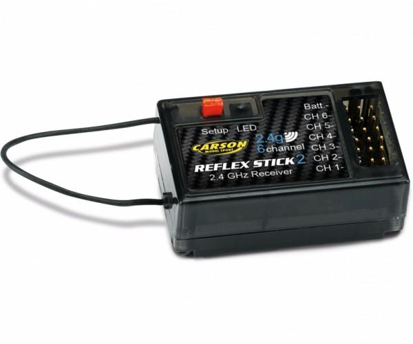 Carson 500501537 receiver REFLEX Stick II 6 channel 2.4G