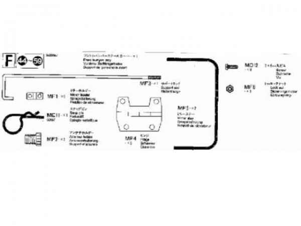 Tamiya 309415657 Volvo Metallteile (F-Beutel)