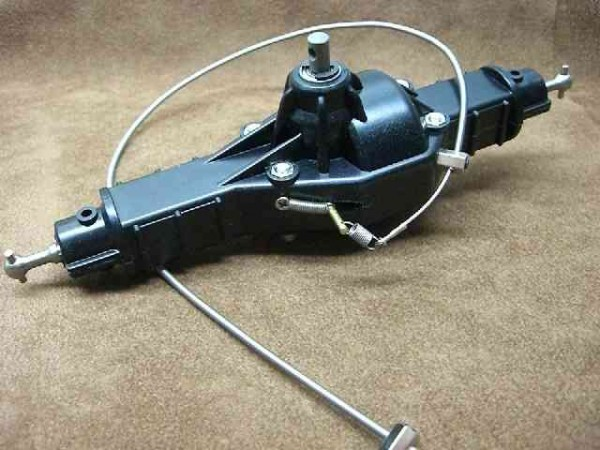 Tamiya CR01 basic axle with cable locks