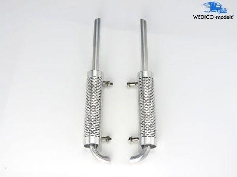 Wedico 414 Auspuffanlage gerade aus Metall für Sattelzugmaschinen WEDICO-models